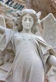 天使的大理石象 免版税库存图片