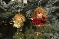以天使的形式圣诞节玩具 免版税库存图片