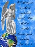 天使的概念性图象与圣经诗歌的 免版税库存照片