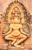 天使的美丽的雕象 免版税库存照片