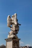 天使的雕象,罗马,意大利 库存图片
