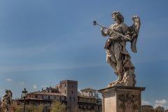 天使的雕象,罗马,意大利 库存照片