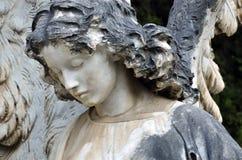 天使的雕象 库存照片