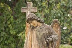 天使的雕象 库存图片