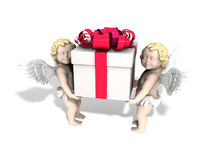 天使礼品 皇族释放例证