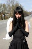 天使祷告 免版税库存图片