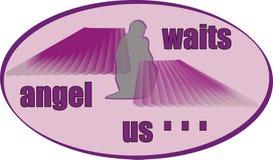 天使等待 向量例证