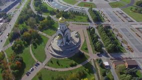 天使米哈伊尔的教会在莫斯科 股票录像