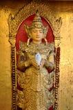 天使缅甸雕象 图库摄影
