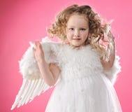 天使美丽的女孩一点 库存照片