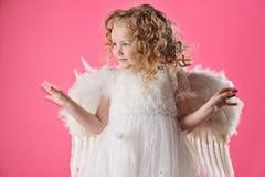 天使美丽的女孩我一点 免版税图库摄影