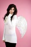 天使美丽的女孩 免版税库存图片