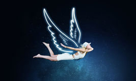 天使美丽的妇女 免版税库存图片