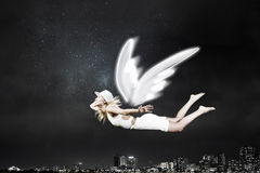 天使美丽的妇女 库存照片