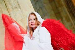 天使美丽的年轻人 免版税库存照片