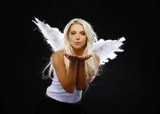 天使美丽的纵向 库存照片