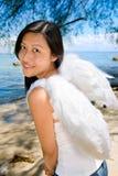天使美好的微笑的白色 库存图片