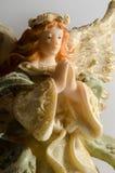 天使背景雕象白色 图库摄影