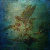 天使背景黑暗的脏的滚动精神水 库存照片