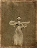 天使背景grunge 库存照片