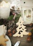 天使苹果球美丽的巧克力圣诞节丁香咖啡构成日期柠檬针桔子杉木存在设置表核桃的葡萄干 免版税图库摄影