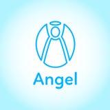 天使蓝色传染媒介商标 皇族释放例证