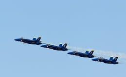 天使蓝色演示海军分谴舰队我们 库存图片