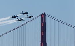 天使蓝色演示海军分谴舰队我们 免版税库存图片