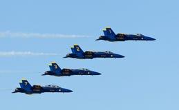 天使蓝色演示海军分谴舰队我们 免版税图库摄影