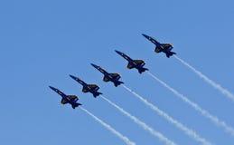 天使蓝色演示海军分谴舰队我们 免版税库存照片
