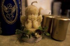天使蜡烛 库存照片