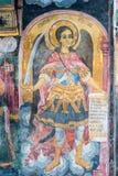 天使迈克尔在壁画特罗扬修道院里在保加利亚 库存图片