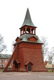 天使迈克尔的教会的钟楼在Mora 瑞典 图库摄影