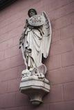 天使迈克尔雕象  库存照片