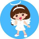 天使逗人喜爱的女孩一点 免版税库存图片