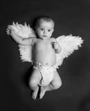 天使逗人喜爱的男婴 图库摄影