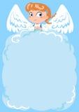 天使逗人喜爱的空的信函 免版税库存照片