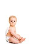 天使逗人喜爱的婴儿 免版税图库摄影