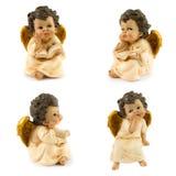 天使金子白色 免版税库存图片