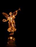 天使金黄的德累斯顿 免版税库存照片