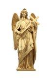 天使金黄雕象 库存图片
