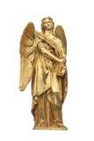 天使金黄雕象 库存照片