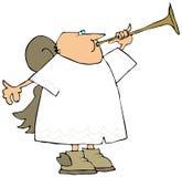 天使铜制喇叭声使用 皇族释放例证