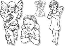 天使集合 库存图片