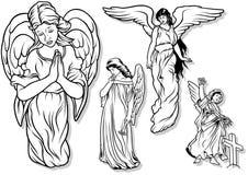 天使集合 库存照片