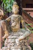 天使雕塑砂岩 库存图片