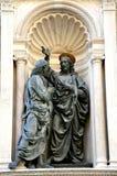 天使雕塑,雕象在意大利 图库摄影