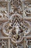 天使雕象和结婚 库存图片
