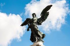 天使雕象在梵蒂冈,意大利 库存照片