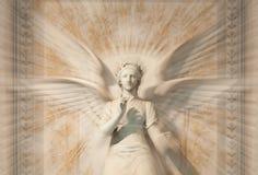 天使雕象妇女 免版税库存图片